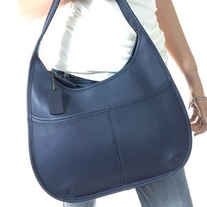 COACH Vintage Blue Leather Shoulder Hobo #9033